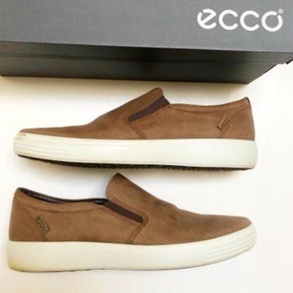 ECCO Soft 7 Perforated Slip-On Sneaker EU 45